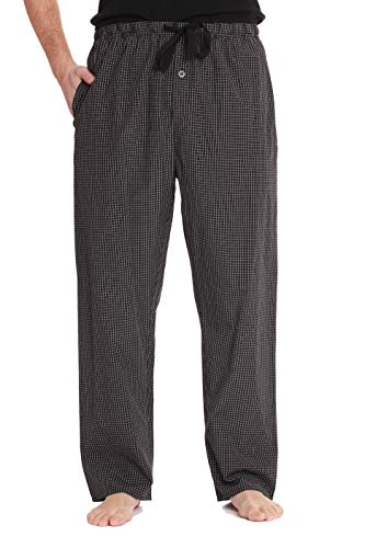 (#followme Mens Pajama Pants Pajamas for Men 45931-21A-L Black White)