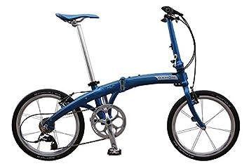 Dahon Mu Ex-Bicicleta Plegable 10 V, Color Azul