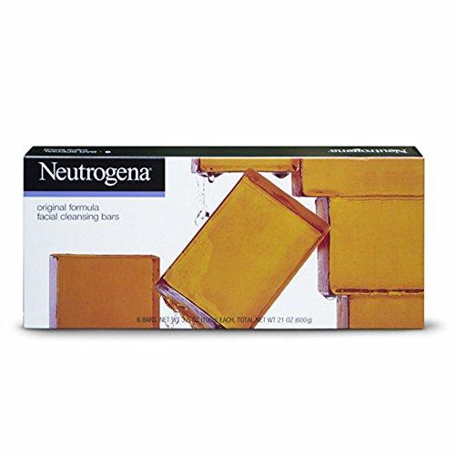 [Neutrogena Transparent Facial Bar Bonus Pack, Original Formula - 6 ea, 3.5 oz each, total 21 oz] (Facial Soap Bar)