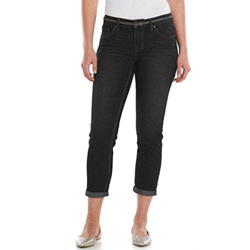 Apt 9 Women's Modern Fit Cuffed Capri Jeans (4, Black) from Apt 9
