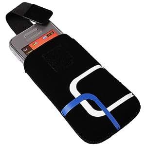 Funda Style bolsa funda negro azul blanco para BlackBerry 8100Pearl 8110Pearl