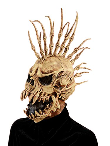 Forum Novelties Men's Sinister Fin Skull Adult Costume Mask, Brown, One Size]()