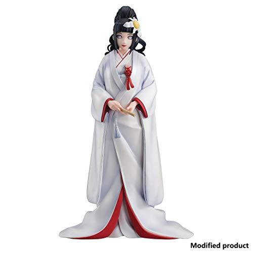 Siyushop Naruto Gals: Hinata Hyuga (Version Mariage) Figurine PVC - Sculpture Détaillée - Hauteur 8.2 Pouces