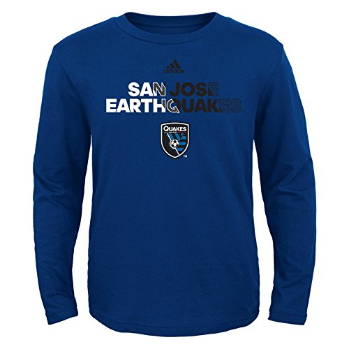 fan products of MLS San Jose Earthquakes Boys Short Sleeve Striker Tee, Small (4), Master Blue