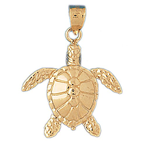 14k Yellow Gold Turtles Pendant (25 x 31 mm) 14k Yellow Gold Turtle Pendant