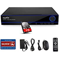 With 2TB Hard Drive Disk, SANNCE Full HD 1080P HDMI CCTV DVR Recorder System for Security Camera, Email Alarm, Phone Remote Control