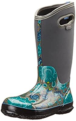 Amazon.com | Bogs Women's Classic Winter Blooms Tall Snow
