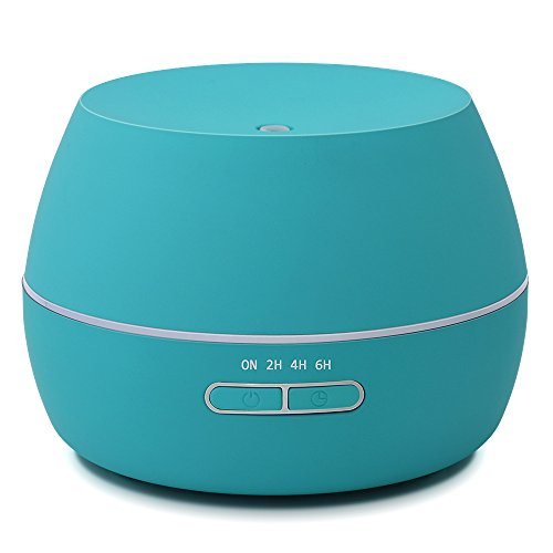 hysure Aroma Diffuser For Essential Oils, Aromatherapy Ultrasonic Cool Mist Extremely Quiet with 300ml for Home, Large room and Spa, Light - And Tiffany Black Blue