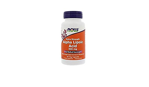 Now Foods - Ácido alfa lipoico 600 mg - 60 cápsulas: Amazon.es ...