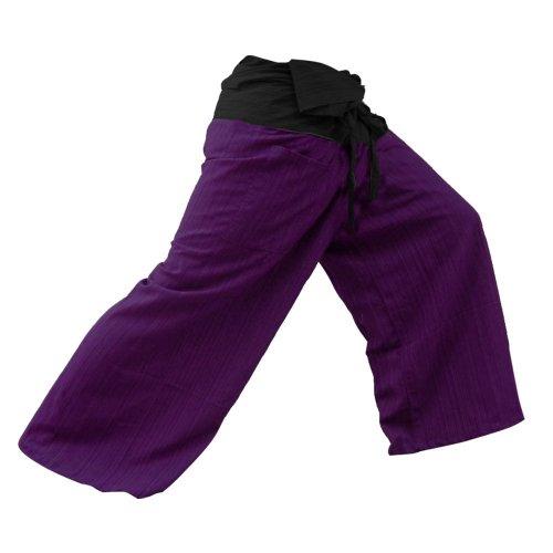2 Tone Thai Fisherman Pants Yoga Trousers Free Size for cheap