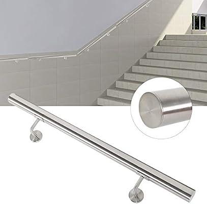 Pasamanos de acero inoxidable para escaleras, barandilla de pared ...