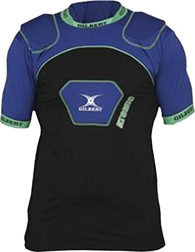 Gilbert Rugby Body Armour Atomic Zen V2 Electric Blue Small Boys Atomic Rugby Body Armour