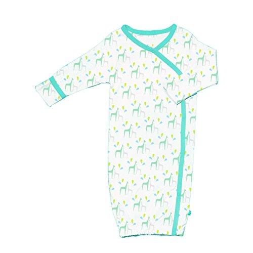 Babysoy Baby Boys' Organic Pattern Kimono Bundler, Giraffe, 0-3 Months (Bundler Kimono Baby)