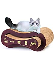 URPRO 2-in-1 Ultimate Cat Scratching Post, Cat Scratcher, Cat Lounge, Cat Sofa, Corrugated Cardboard