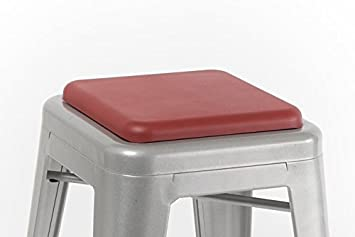 square seat cushion for metal bar stools or kitchen chairs red chairstool