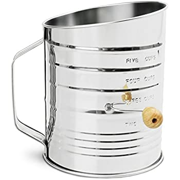 Nellam Traditional Flour Sifter Stainless Steel (5 Cup)