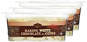 King David Kosher Easy Melt White Baking Chocolate Flavored Coins 12.34-ounce Jars (Pack of 3)