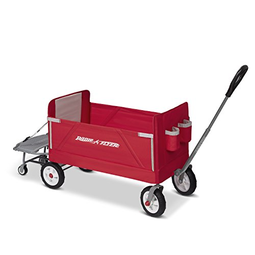 Radio Flyer 3-In-1 Tailgater Wagon, Red (Amazon Exclusive) ()