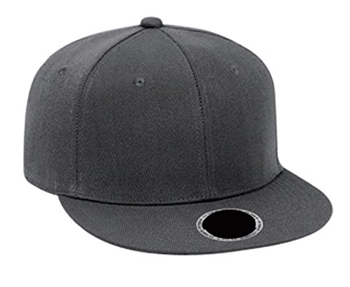 Hats & Caps Shop Fit Wool Blend Flat Visor Fitted Pro Style Caps (6 7/8
