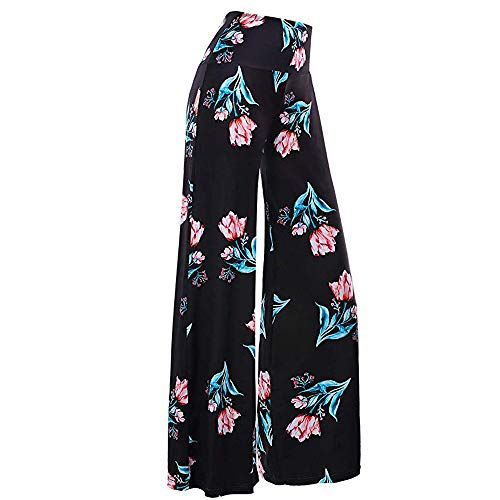 - LISTHA Wide Leg Pants Plus Size Women Print Full Length Trousers Casual Loose Green