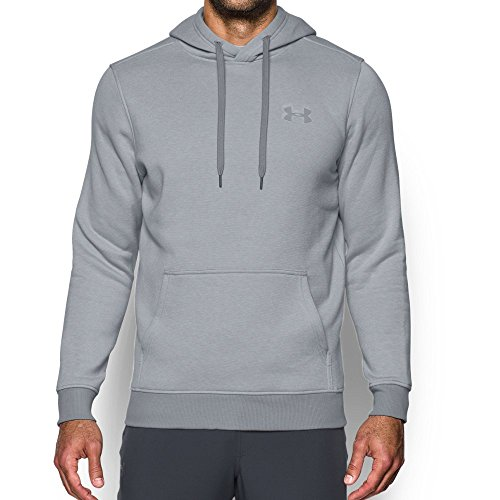 Under Armour Men's Rival EOD Fitted Pullover Overcast Gray/Overcast Gray/Overcast Gray Large
