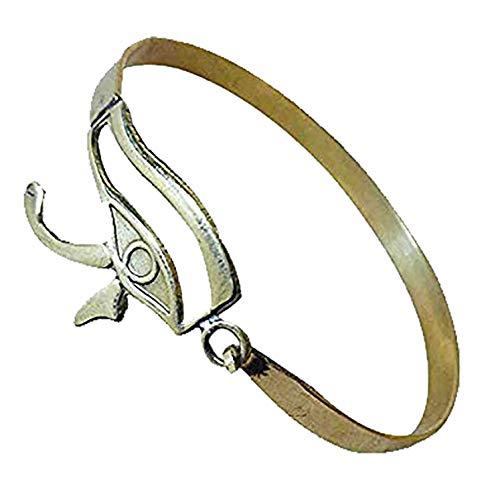 (bonballoon Egypt Pharaoh Handmade Brass Bracelet Cuff Horus Eye Beetle Luck Hieroglyphics Pharaoh's Costume Jewelry Accessory Hieroglyphic 108)