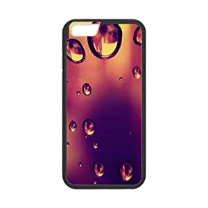 iPhone 6 plus Case,Rain Drop Falling From Window Hard Shell Back Case for Black iPhone 6 plus Okaycosama412744
