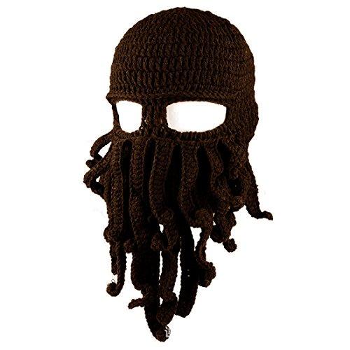 Knit MáScara Esquí Cap De Café Funny Beanie Octopus ECYC® Sombrero oscuro Tentacle Viento A20 qWw6tvgU