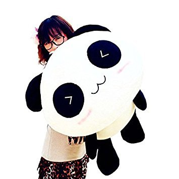 Interesting Amazing 70 cm Cute Panda Pillow Soft Plush Toy Stuffed Smiling Lying Animal -