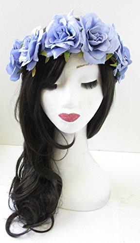 Lilas Lavande Violet Rose cheveux fleur couronne bandeau Guirlande VTG Grand U06* * * * * * * * exclusivement vendu par–Beauté * * * * * * * *