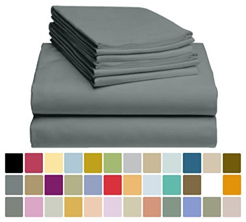 "6 PC LuxClub Sheet Set Bamboo Sheets Deep Pockets 18"" Eco Fr"