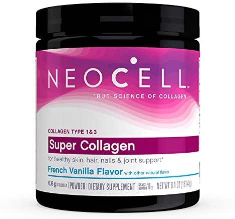 NeoCell Super Collagen Powder – Collagen Types 1 & 3 – for Healthy Hair, Skin and Nails – Add to Coffee & Smoothies – French Vanilla – 26 Servings