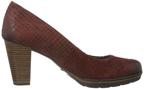 Marco Tozzi Premio 22421, Zapatos de Tacón para Mujer Rojo (VINO ANTIC 505)
