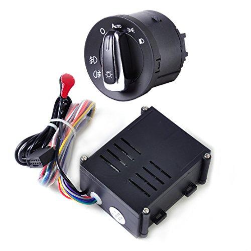 Headlamp Module (Auto Headlight Sensor Module Headlamp Switch Control Fit for VW Golf Jetta 98-04)