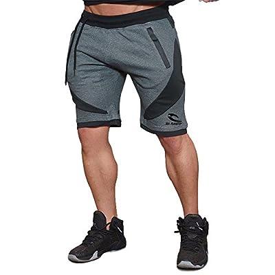 SEA PLANETSP New Men's Gym Workout Jogger Running Bodybuilding Shorts