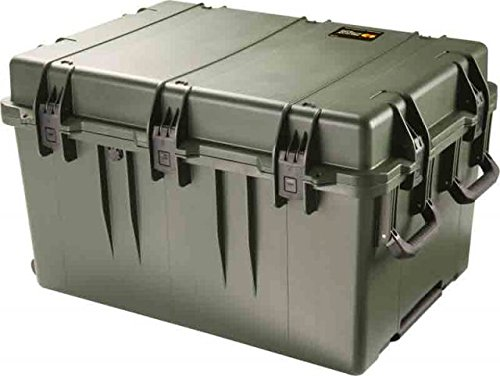 Pelican Storm Cases iM3075 Dry Box w/Wheels, 33.31x24.25x19.27in, OD Green, No Foam w/ Utility - Storm Im3075 Case