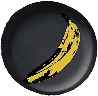 Warhol Banana タイヤカバー タイヤ保管カバー 収納 防水 雨よけカバー 普通車・ミニバン用 防塵 保管 保存 日焼け止め 径83cm
