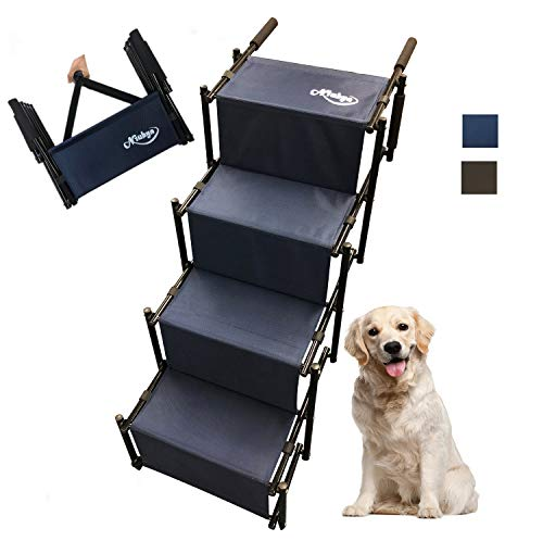 Lightweight Accordion Portable Rustproof Metal Frame 4 Pet Steps