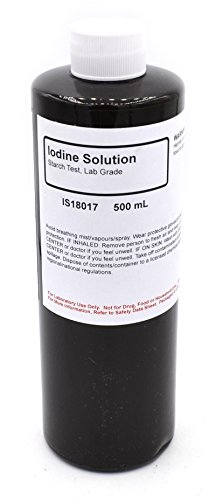 Laboratory-Grade Iodine Solution, 500mL - The Curated Chemical Collection