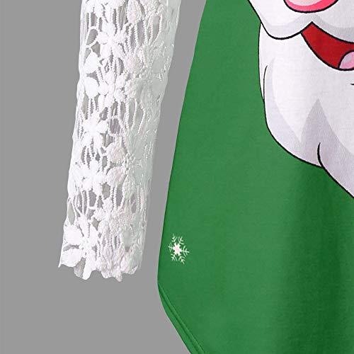 Dentelle Bureau Chic Shirt OVERMAL 1 t Mode Manches en Fille Panneau Haut Blouse Impression Joyeux 2018 Dcontracte Sexy T No Longue l Pre No Tops Vrac et l Femmes Automne Vert Chemise Vetements pPTqrPx