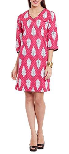 hot pink anarkali dress - 2
