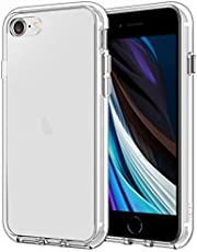 JETech Case for iPhone SE 2nd Generation, iPhone 8 and iPhone 7, 4.7-Inch, Shockproof Bumper Cover, Anti-Scratch Clear Back, HD Clear