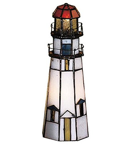 Meyda Tiffany 20536 Marble Head Lighthouse Accent Lamp, 9