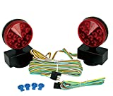 MaxxHaul 50015 12V LED Towing Lights with Magnetic Base-DOT Compliant