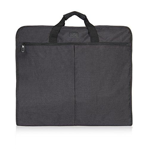 Hynes Eagle 45 inch Portable Garment Bag Hanging Travel Foldable Suit Bag Black by Hynes Eagle (Image #7)