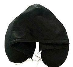 Amazon.com: Ovanpa 2019 Hooded Travel Neck Pillow (Grey ...