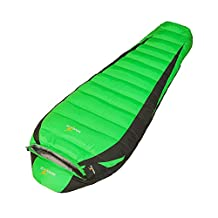 WINGACE -25 Degree Down Sleeping Bag, 2500g Fill, Winter, Mummy, Ultralight, with Compression Sack