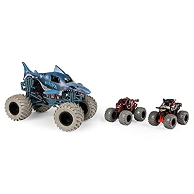 Monster Jam in Too Deep Diecast Car 3-Pack: Toys & Games