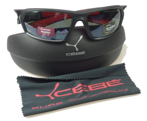 Amazon.com: Cébé Steem Black Sunglasses - Polarized ...