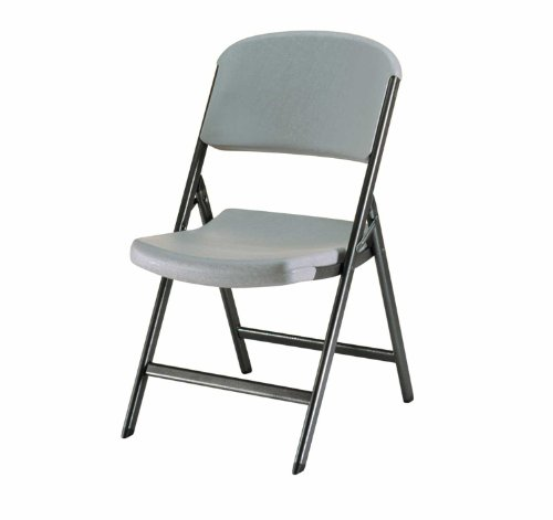 Lifetime 80186 Classic Commercial Folding Chair, Putty with Black Steel Frame, Pack of 4 (Chairs High Sears)